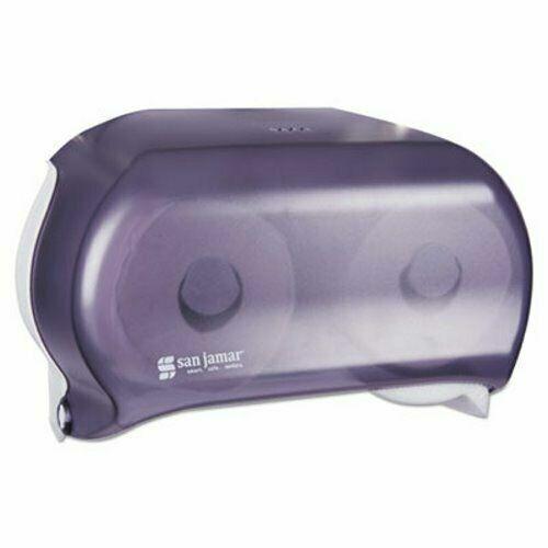 San Jamar R3600 Versatwin Toilet Tissue Dispenser, Black (SAN R3600TBK)