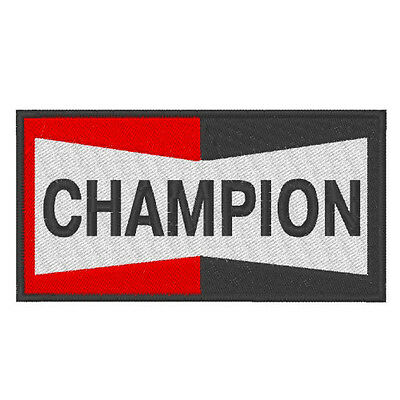 Racing Sponsoren Fan Aufnäher Champion 10 x  5 cm