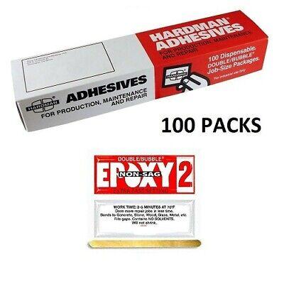 Double Bubble Epoxy Red 2 Non Sag 3.5g 100 Packs Super Fast Set Hardman 04008 - $111.95