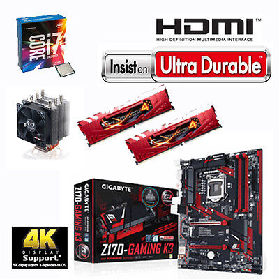 Bundle Intel Core i7 6700K+4x4,20GHz-Gigabyte Z170 Gaming K3-16GB PC2400 G.Skill