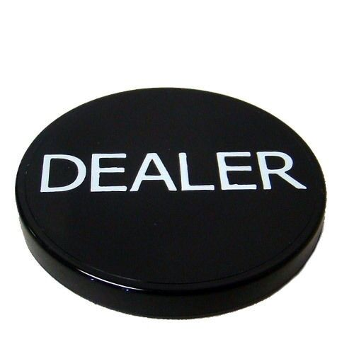 Black Dealer Button Poker Casino - Lammer