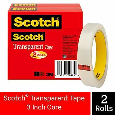 Scotch Brand Transparent Tape Engineered For Office And Home Use 34 X 2592 I...