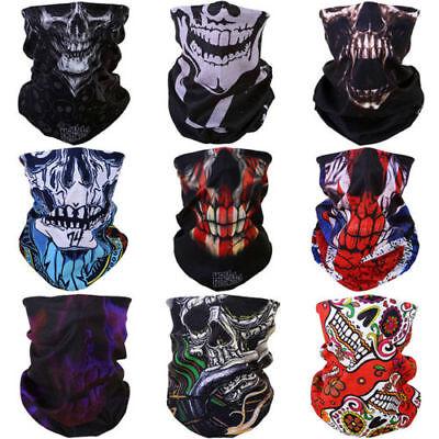 Head Neck Tube Bandana Mask Motor Biker Headband Face Scarf Skull Halloween - Halloween Tube