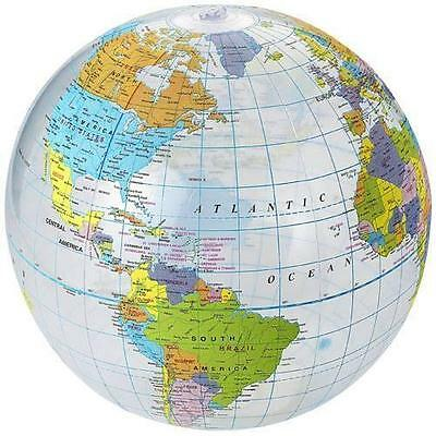30cm ball Inflatable Globe Education geography toy Map balloon beach World