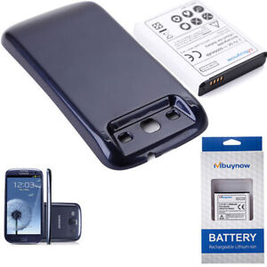 6000mAh Extended Battery with Sapphire Blue Cover for Samsung Galaxy S 3 I9300