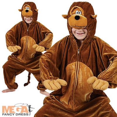 Monkey Kids Zoo Jungle Animal Fancy Dress Child Boys Girls Costume Outfit 3-11  (Jungle Dress Up Costumes)