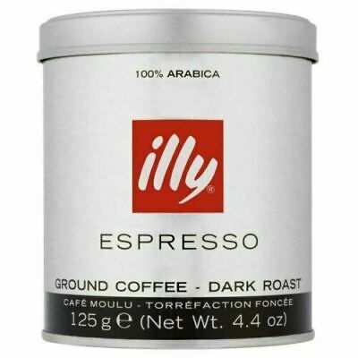 illy Espresso Dark Roast Tin Ground Coffee 125 g - BB 11/2020