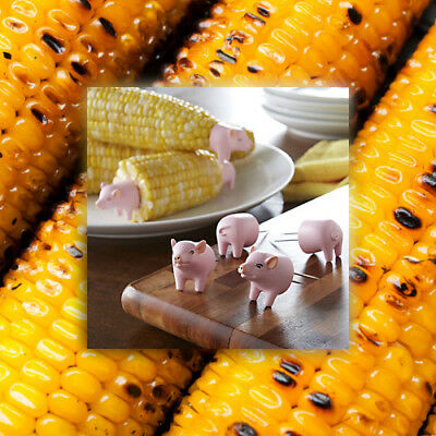 Charcoal Companion Pig Corn Holders - Set of 4
