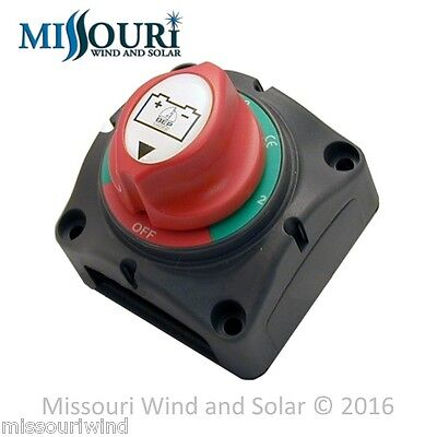 DC battery switch between 2 battery banks for wind turbine solar panel marine rv