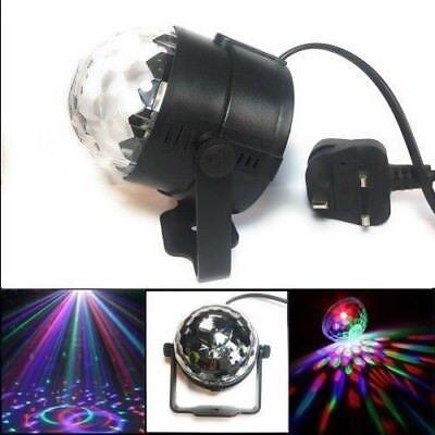 MSC LED Plug in Disco Ball lamp Rotating Multi-Coloured - Plug In Disco Ball