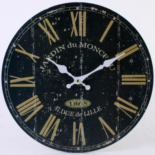 Large Black Wall Clock Ebay