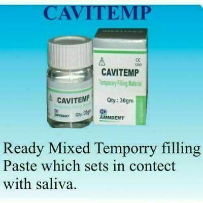 Ammdent Cavitemp Dental Temporary Filling Material Cement 30 Gram