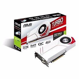 ASUS Turbo GTX970-OC-4GD5 NVIDIA GeForce GTX 970 Graphics Card - White