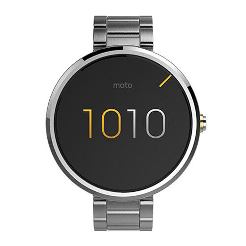$129.99 - Motorola Moto 360 Smartwatch | Silver Metal Case/Band | New