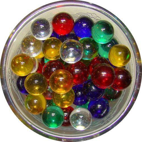 2 Red Marbles : Clear colored marbles ebay