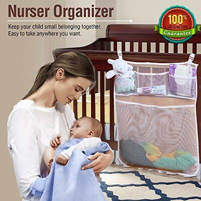 Baby Nursery Organizer For Cribs By Loved Bimbi Practical Hanging Storage Bag..., used for sale  Shipping to India