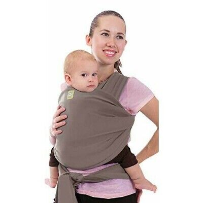 KeaBabies Baby Wrap Carrier 4-in-1 Stretchy Baby Wrap Sling Ergo/ Copper Gray