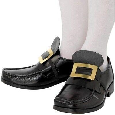 Herren Piraten oder Musketier Kostüm Schuhe Schnallen Schwarz von Smiffys - Schwarze Piraten Kostüm Schuhe