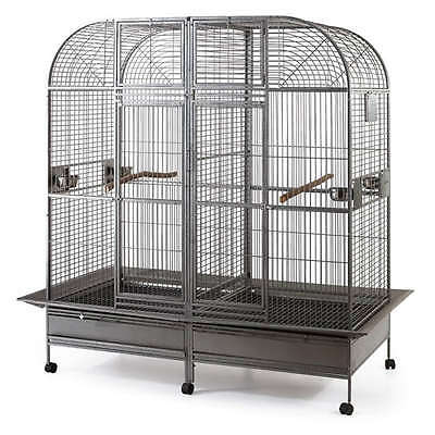 Double Bird Cage with center divider for Parrot Macaw Aviary W64xD32xH73 NEW