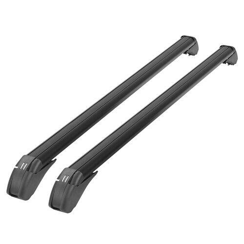 iMounTEK 2PCS Universal 110cm/43-inch Car Roof Rack Cross Bar w/ Anti-Theft L...