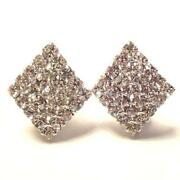 Diamond Clip on Earrings