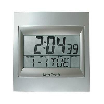 Exclusive Ken-Tech Atomic LCD Radio Controlled Calendar Alarm Wall Clock