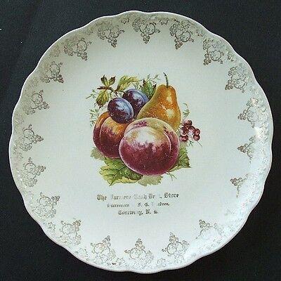 RARE & beautiful COURTENAY NORTH DAKOTA antique advertising plate