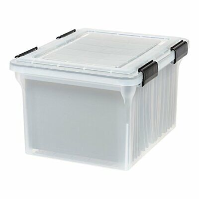 Iris Usa Letter And Legal Size Weathertight File Box Clear