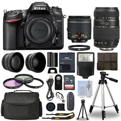 Nikon D7200 Digital SLR Camera + 4 Lens Kit: 18-55mm + 70-300 mm + 32GB Kit