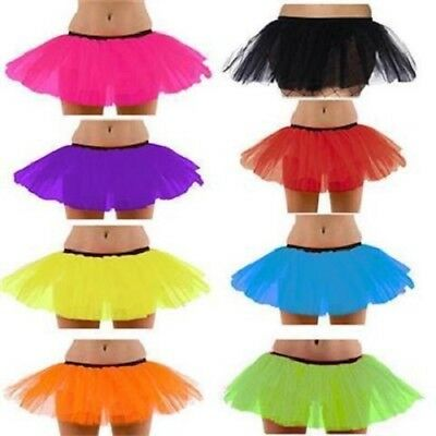 ** NEON TUTU LADIES TEENS VARIOUS COLOURS FANCY DRESS NEW ** DANCE HEN - Teen Dance Kostüm
