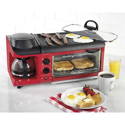 Nostalgia Electrics  Retro Series 3 In 1 Breakfast Station Toaster Coffee Maker