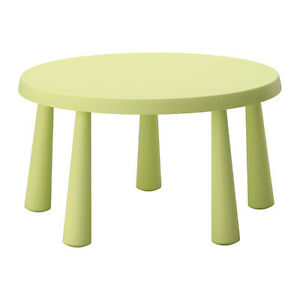 IKEA children table green & 5 chair