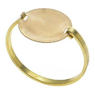 Solid Brass Bracelet Base Circular Hinge Top with 34mm Blank, 1 Piece