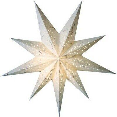 Stern Papierstern Weihnachtsstern Leuchtstern Lampe Papier Faltstern creme 4