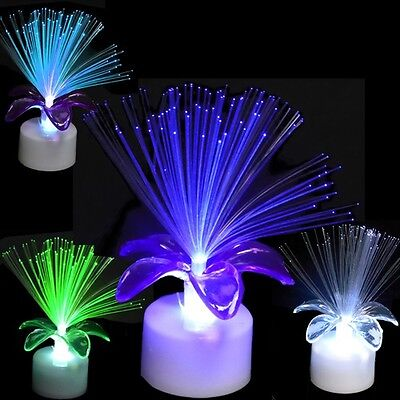 Light Up Flashing Flower Fiber Optic Party Table Centerpieces (Pack of 48X) - Light Up Table Centerpieces