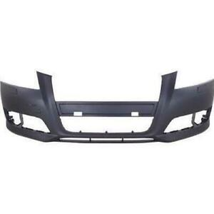 2009-2013 Audi A3 Bumper Front With Wash Hole Without Sensor Hole Without Sport Package Primed CAPA
