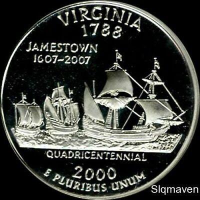 2000 S 90% Silver Virginia State Quarter Deep Cameo Gem Proof No Reserve