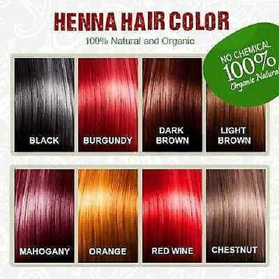 1x Henna Hair Dye Color 60g 100% organic & natural - PICK YOUR COLOR -