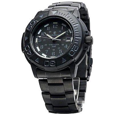 Smith & Wesson Men's SWW-900-BLK Diver Swiss Tritium Black  Rubber Band Watch