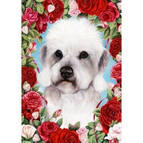 Roses Garden Flag - Pepper Dandie Dinmont Terrier 192111