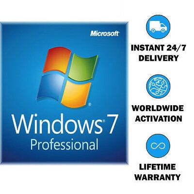 Windows 7 Professional 32 64 Bit Activation Key Coa Sticker
