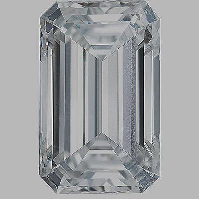 1 carat Emerald cut Diamond GIA G color VVS1 clarity no flour. Excellent loose