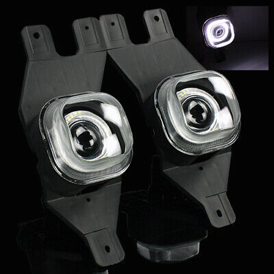 99-04 F250/01-04 F350/F450/F550 Hi-Power Angel Eye SMD Halo Projector Fog Lights