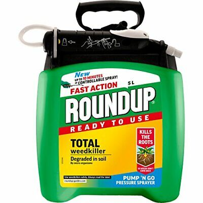 Roundup Fast Action Total Weed Killer Pump N Go Ready To Use Spray 5 Litre