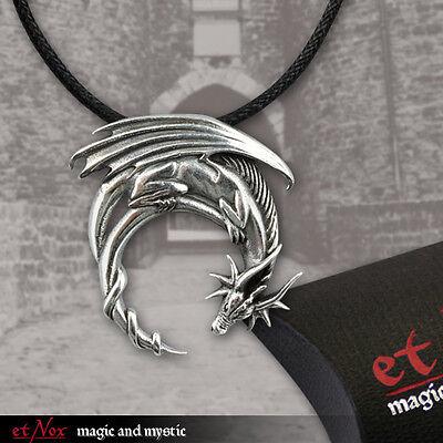 Drachen Dragon Gothic Amulett Talisman Anhänger Drache 925 Silber Fantasy K5053