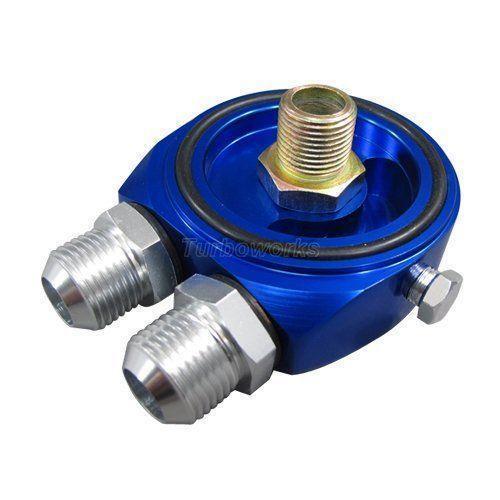 Sbc Oil Cooler : Chevy oil cooler adapter ebay