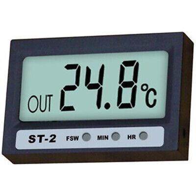 Termómetro Interior / Exterior / Reloj digital para Acuario / Nevera (ST-2)