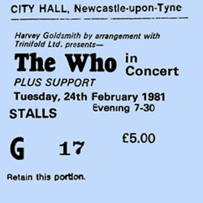 The Who concert coasters Ticket February 1981 High Quality mdf coaster