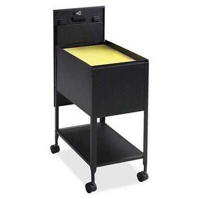 Black Metal Letter File Cabinet Rolling Storage Mobile Organizer Filing Lockable