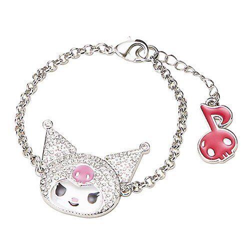 "SANRIO - KUROMI  RHINESTONE BRACELET- boxed -  Adjustable 7"" - 8""  Hello Kitty"